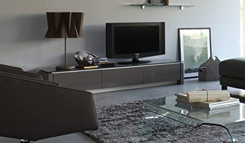 Calligaris - Porta Tv Mag Wood - Finitura: Impiallacciato Finitura Smoke P12
