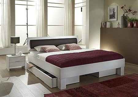 Dreams4Home, Massivholzbett, Bett, Massivholz, Buche 'Bolzano' 90, 100, 120, 140, 160, 180, 200x200 cm, Liegefläche:200x200 cm