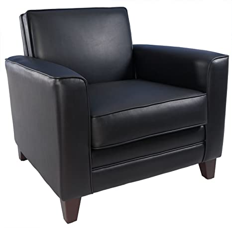 Teknik Newport Single Seat Armchair Leather Faced Upholstery