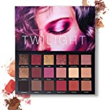 Pressed Pigmented 18 Color Eyeshadow Palette Velvet Matte Glitter Smoky Eye Makeup Palette 10 Matte + 8 Shimmery Eye Shadow (Color: Eyeshadow Palette2)
