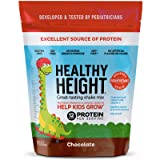 Healthy Height Kids Protein Shake Mix (Chocolate). Great Tasting and Doctor Developed Nutritional Drink that Helps Kids Grow with 12 g Protein, Vitamin C and Zinc. Gluten-Free and Soy-Free. 21 oz Bag (Tamaño: 22 Ounce (1 Count))