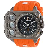 Timberland Men's 'Ht3' Quartz Stainless Steel and Silicone Casual Watch, Color:Orange (Model: TBL_13673JSU_02S)
