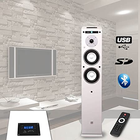 COLONNE HIFI AMPLIFIEE USB/SD/BLUETOOTH - 13cm/40W