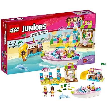 LEGO - 10747 - Juniors  - Jeu de Construction - Les Vacances à la Mer d'Andréa et Stéphanie