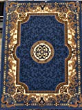 2034 Blue Beige Ivory 8x10 (7'6x10'4) Area Rug Oriental Carpet Large New