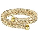 Swarovski Golden Double Crystaldust Bangle (Color: Gold Large)