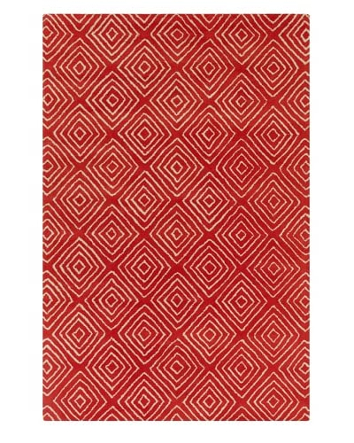 Filament Marla Hand-Tufted Wool Rug, Red, 5′ x 7′ 6″