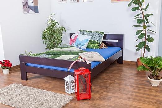 "Bett ""Easy Sleep"" K6, 160 x 200 cm Buche Vollholz massiv schwarz lackiert"