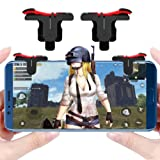 Mobile Game Controller Gamepad L1R1 Mobile Phone Joystick Sensitive Shoot and Aim Triggers for PUBG/Fortnite/Knives Out/Rules of Survival Android IOS Mobile Gaming Joysticks (Color: Black)