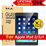 iPad 2 / iPad 3 / iPad 4 Glass Screen Protector,[2 Pack] AnoKe[Case Friendly](0.3mm 9H) Anti-Scratch, Clear Tempered Protector Film Shield Guard for Apple iPad 2/3/4-2 Pack (Color: iPad 2/iPad 3/iPad 4 2PCS)