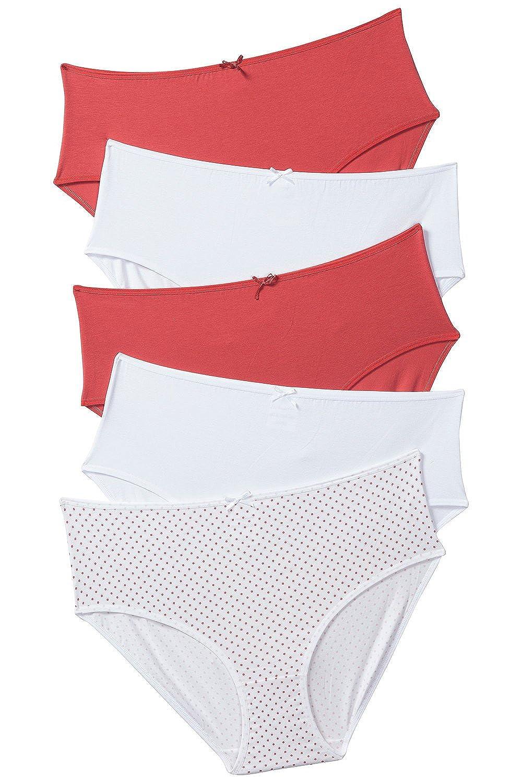 Ulla Popken Damen große Größen Slips, 5er-Pack 703232