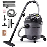 AUTLEAD Vacuum WDS01A 5 Gallon Pure Copper Motor 5.5 HP Wet/Dry/Blow 3 in 1 Shop Vac, Stable Round Bucket Design with Pulley System, HEPA Disposable Bag, 3 Brush Included, Black (Color: Black, Tamaño: 5 Gallon)