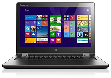 "Lenovo Yoga 2 13 PC Portable Hybride Tactile 13"" Noir (Intel Core i5, 4 Go de RAM, disque dur SSD 256 Go, Windows 8.1)"