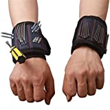 Magnetic Wristband with Strong Magnets for Holding Screws Nails Drill Bits Best Tool for DIY Handyman Men Women CTD02 (1 Pack) (Color: 1 Pack, Tamaño: One Size)