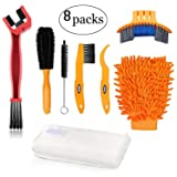 Oumers Bike Clean Brush Kit, 8pcs Motorcycle Bicycle Cleaning Tools Make Chain/Tire/Sprocket/Crank Bike Corner Stain Dirt Clean Shine. Durable/Practical (Color: 8pcs Bike Clean Brush Kit)