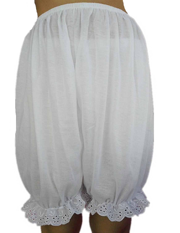 Frauen Handgefertigt Halb Slips UL1CWH WHITE Half Slips Cotton Women Pettipants Lace günstig