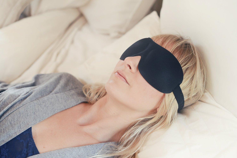 #1 Rated Patented Sleep Mask - Premium Quality Eye Mask with Contoured Shape by Nidra - Ultra Lightweight & Comfortable-Adjustable Head Strap - Sleep Anywhere Anytime - Sleep Satisfaction Guaranteed