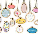 Tofover DIY Wooden Cross Stitch Hoop Mini Ring Embroidery Circle Sewing Kit Frame Craft 7Pcs/Set (Color: Multi1, Tamaño: 7Pcs)