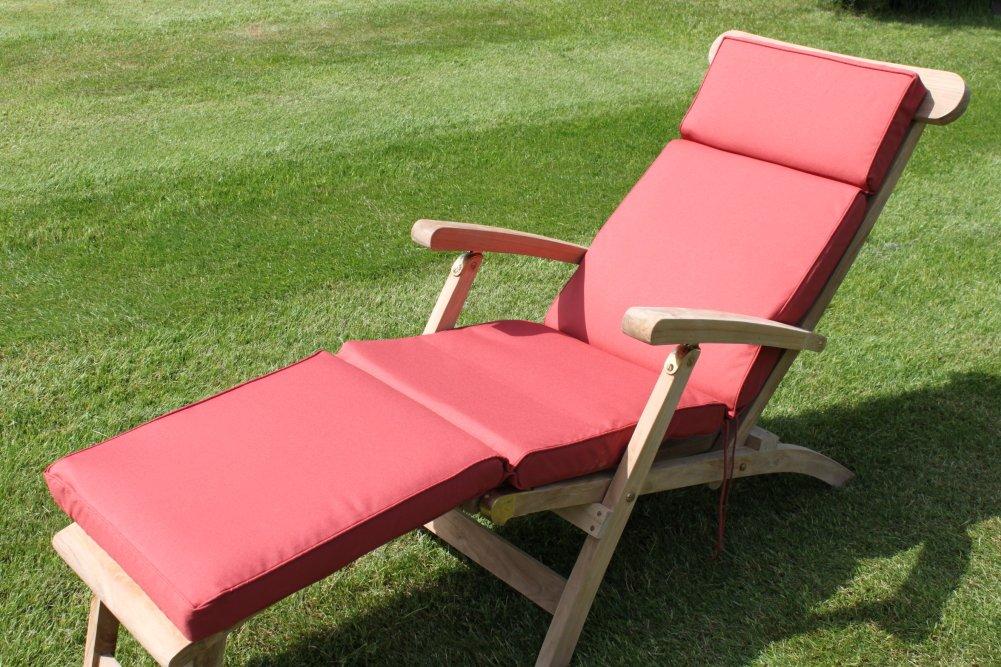 Gartenmöbel-Auflage - Auflage für Liegestuhl in Terrakotta
