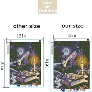 Dylan's Cabin DIY 5D Diamond Painting Kits for Adults,Full Drill Embroidery Paint with Diamond for Home Wall Decor(Owl/16x12inch) (Color: owl 2)