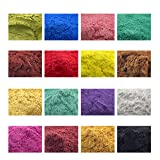 160g Cosmetic Grade Natural Mica Powder Pigment for DIY Soap Candle Making,Eye Shadow, Toiletry Crafter, Colorant Dye 16 Colors (10 Grams Each, 160 Grams Total) (Color: Bronzy, Dark Blue, Golden Red, Brilliant Green, Wine Red, Oriental Red, Deep Yellow, Bronze, Merck , Tamaño: 10g each Package)