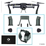 Landing Gear and Sun Hood for DJI Mavic Pro / Platinum - Leg Extensions for Extra Height and Safety - Gives Your DJI Drone More Ground Clearance - Camera Sun Shield Blocks Excess Sunlight