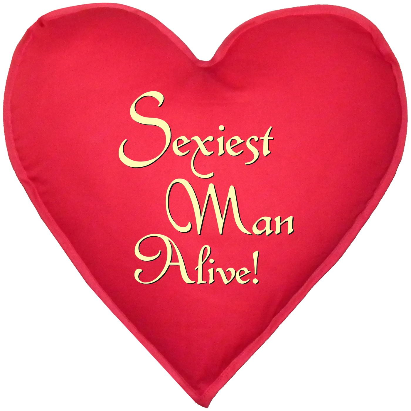 sexy kissen in herzform sexiest man alive originelles geschenk f r ihn ca 40x40cm online. Black Bedroom Furniture Sets. Home Design Ideas