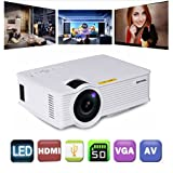 Gzunelic +30% Lumens Mini Led Video Projector Max 180
