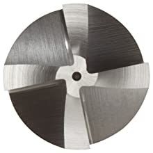 Niagara Cutter CRM125 High-Speed Steel End Mill, Uncoated (Bright), 4 Flutes, Corner-Rounding End