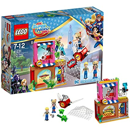 LEGO - 41231 - Dc Super Hero Girls - Jeu de Construction - Le sauvetage d'Harley Quinn
