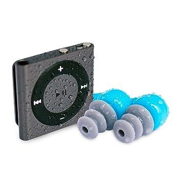 Apple iPod Shuffle Waterfi étanche et Waterproof avec écouteurs étanches à câble court - Meilleur lecteur MP3 pour la natation (Waterfi Waterproof iPod Shuffle with Short Cord Headphones) (Space Gray)