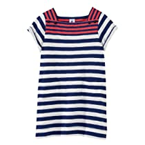 Petit Bateau Girls Sailor Striped Dress