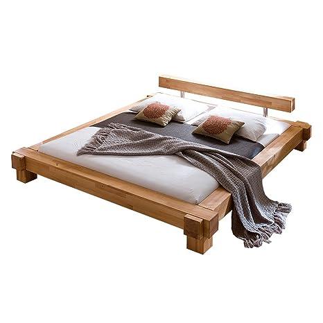 Bett Parana 140 x 200 cm in Kernbuche massiv geölt