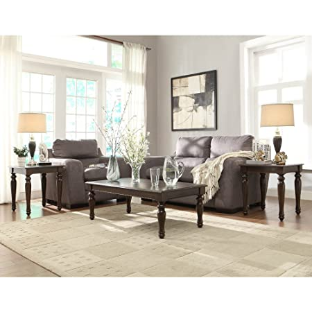 Hebron 3 Piece Coffee Table Set in Rich Brown Cherry by Homelegance