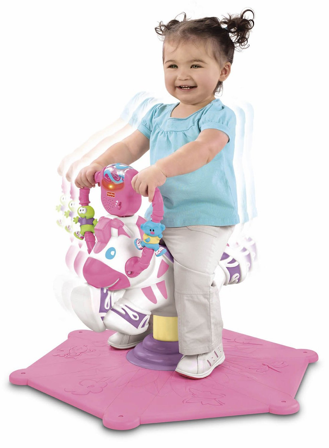 Fisher-Price Hipp-Hopp Zebra rosa