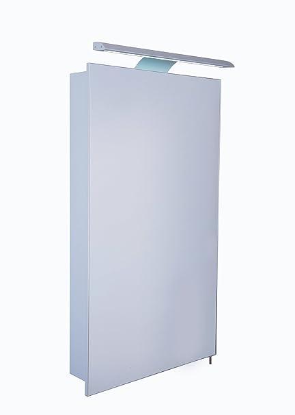 Croydex WC147769E Jefferson porta singola, con illuminazione, in alluminio