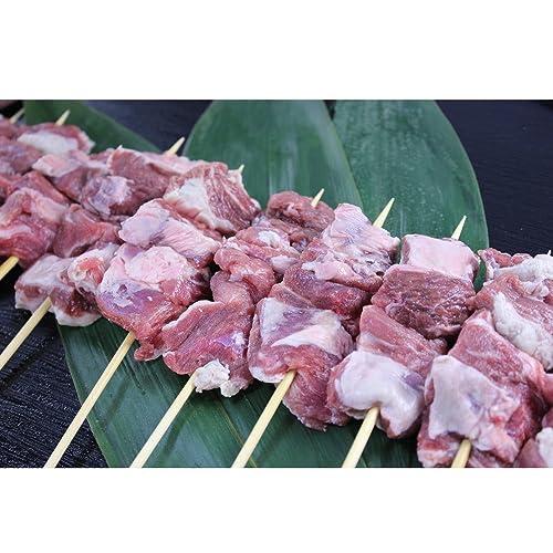 【焼くだけで本格的な味】豚のカシラ串焼 10本入