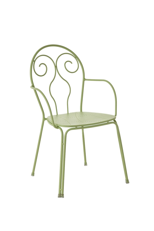 Emu 309316000 Caprera Armlehnstuhl 931, pulverbeschichteter Stahl, 4-er Set, grün kaufen