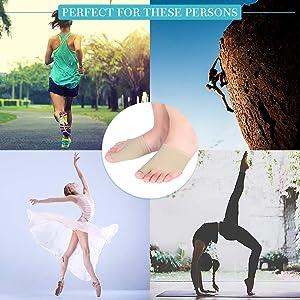 Bunion Pads, Bunion Relief Sleeves Big Toe Protector Elastic Bunion Corrector with Gel Pad Cushion Toe Straightener for Hallux Valgus, Hammer toes, Bu