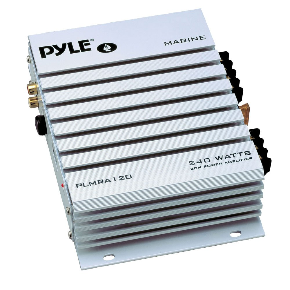 PYLE PLMRA120 240-Watt 2-Channel Waterproof Marine/Car Amplifier