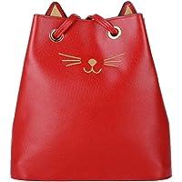QZUnique PU Cat Prick Ear Casual Shoulder Bag Cut Kpling Big Tote Women's Handbag Purse