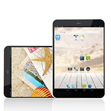 """7.85 """"Excelvan® Android 4.2 MTK8312 3G 8GB phablet ROM 1 GB di RAM HD 5-Point Touchscreen Dual Camera Bluetooth GPS WIFI Tablet PC Mini Pad + 3G di SIM Smartphone (argento + bianco)"""