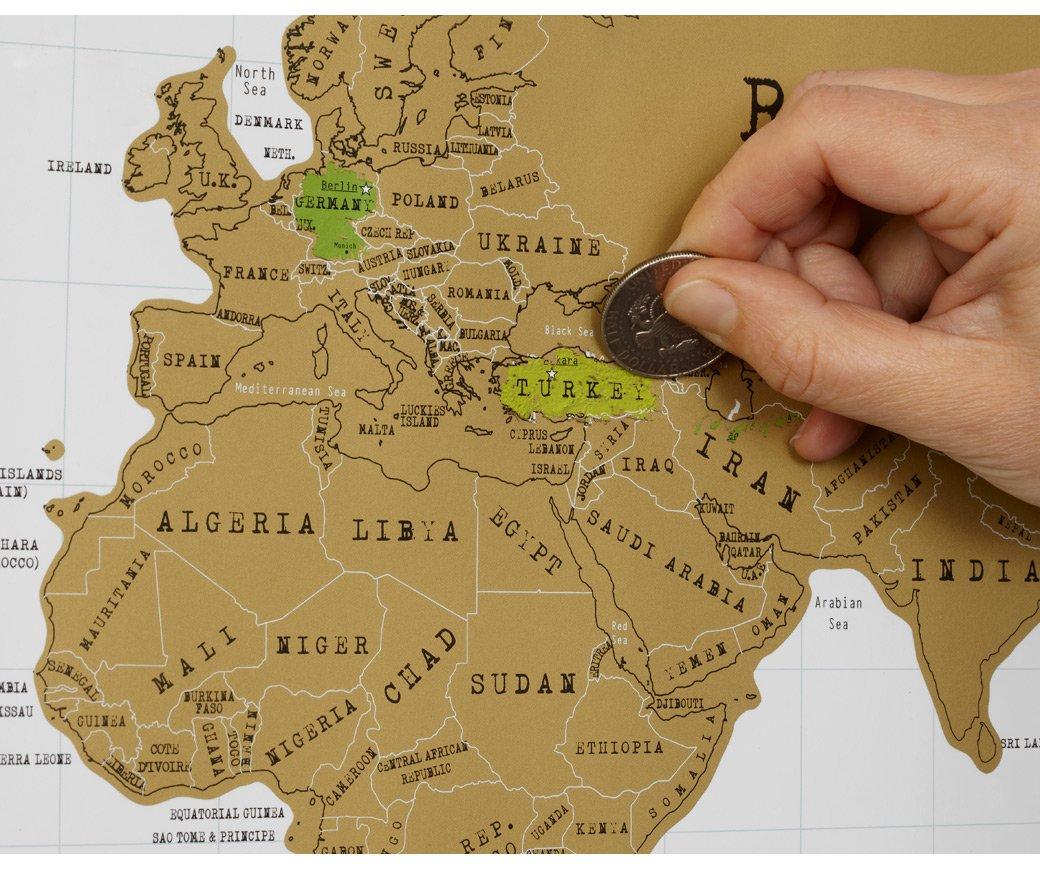 Rubbel-Weltkarte Scratch Map: Amazon.de: Küche & Haushalt