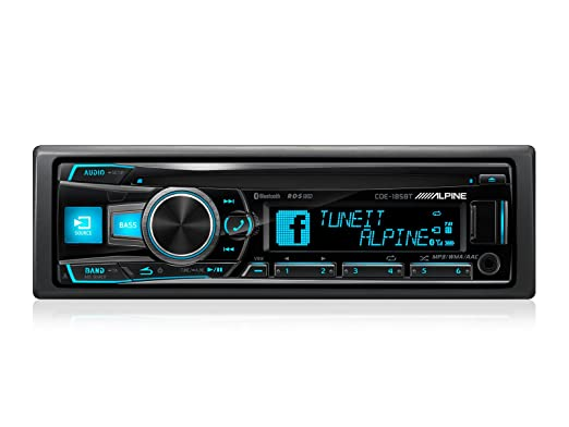 Alpine CDE-185BT Autoradio CD/DVD Noir