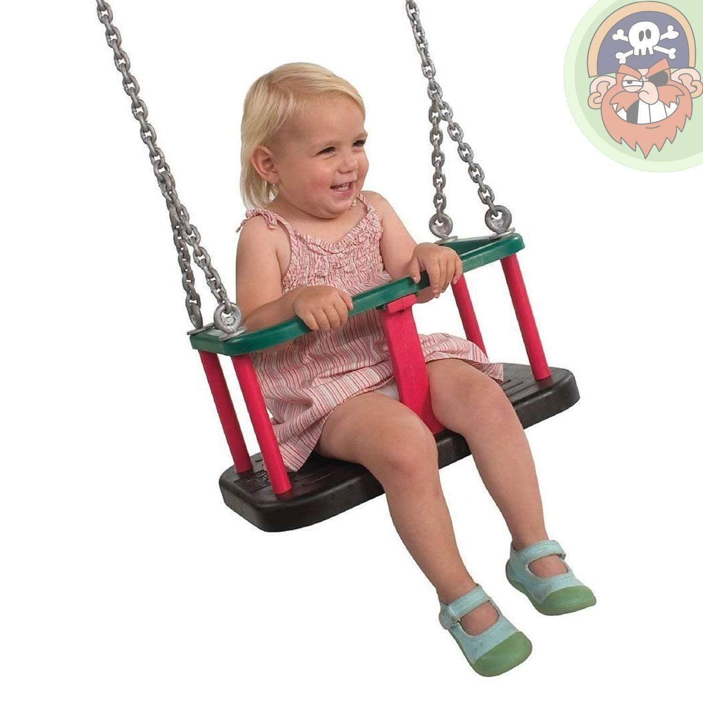 Babysitz Babyschaukel Trad. mit Edelstahl-Kette EN 1176 öffentlicher Bereich von Gartenpirat®