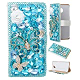 Samsung Galaxy S8 Plus Case,Spritech PU Leather Wallet Phone Case 3D Handmade Bling Design Decorated Folding Protected Smartphone Cover with Card Slots for(2017)Samsung Galaxy S8 Edge (Color: T1)