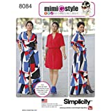 Simplicity Pattern 8084 AA Misses' and Miss Plus' Shirt Dress in Two Lengths by Mimi G, Size 10-18 (Tamaño: Size: AA (10-12-14-16-18))