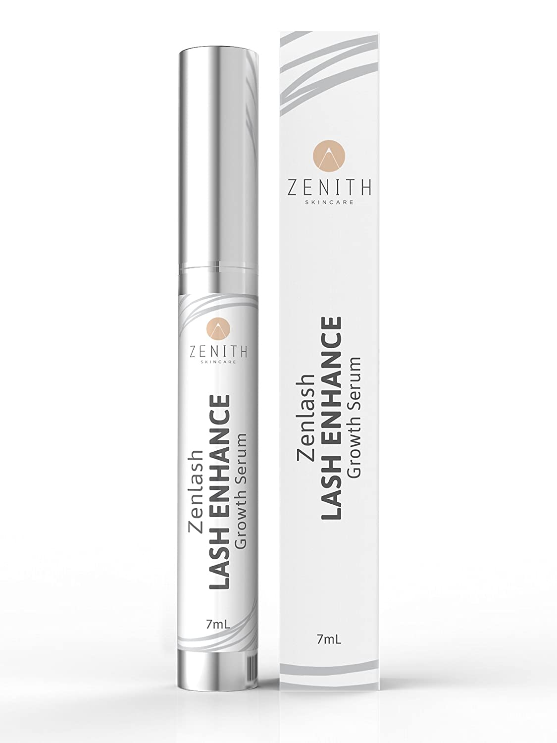 ZENLASH Eyelash growth serum eyelash growth products best eyelash growth serum longer stronger thicker eyelashes for fuller lashes large 7ml bottle-Lifetime peace of mind guarantee