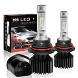9007/HB5 LED Headlight Bulbs Conversion Kit, Dual High/Low Beam Bulbs, DOT Approved, SEALIGHT X1 Series, 6000K Xenon White, 2 Yr Warranty