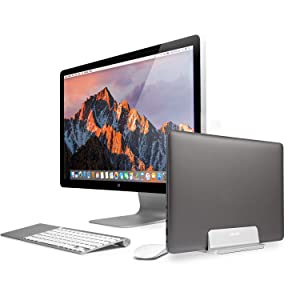 JARLINK Vertical Laptop Stand, Adjustable Laptop Holder Desktop Stand with Adjustable Dock Size (up to 17.3 inches) Compatible with All MacBook/Surface/Lenovo/Dell/Gaming Laptops (Silver) (Color: Silver, Tamaño: 1-pack)